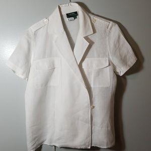 Women's Medium Short Sleeve Linen RLR Shirt